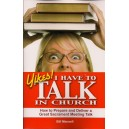 Yikes! I Have to Talk in Church